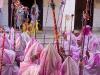 Procession carrying Krishna idol back to the Bejoy Govinda Temple on Halangkar, the last day of Yaoshang, Imphal