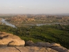 "View from the Hanuman Temple popularly known as the ""monkey temple,"" Hampi."