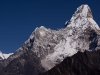 View of Ama Dablam, from the ridge behind Deboche.