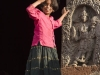 Little girl in front of the Channekeshava Temple, Belur.