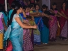 Traditional evening line dance held in the streets of Imphal during Yaoshan (Holi)