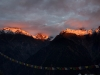 View at sunset from Kalpa