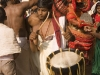 Drumer, Theyyam at a Rama temple, in Kannur District.