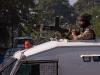 Military presence during curfew in Srinagar, Kashmir