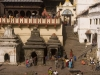 Pashupatinath Temple with bodies being prepared for cremation, the most important Hindu temple in Nepal set along the holy Bagmati River, Kathmandu.