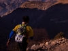 Runner in the Everest Marathon from Everest Base Camp to Namche Bazaar.