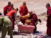 High Lama stops to give blessings along the road to Pangong Lake