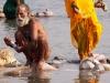 Sadhu bathing, Kumbh Mela, Haridwar