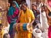 Dancing and music in the camps, Kumbh Mela, Haridwar