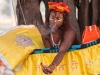 Naga Sadhu (standing baba) took a vow to remain standing, smoking a chillum, Kumbh Mela, Haridwar