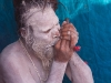 Naga Sadhu with a pad lock through his pierced scrotum Kumbh Mela, Haridwar