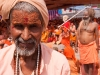 Sadhus at lunch, Kumbh Mela, Haridwar