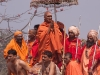 Procession of Sadhus going to bath at Hari-Ki-Pairi for Somvati Amavasya - Dvitya Shahi Snan (2nd royal bath), Kumbh Mela, Haridwar