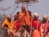 Procession of Sadhus going to bath at Hari-Ki-Pairi for Somvati Amavasya - Dvitya Shahi Snan (2nd royal bath), Kumbh Mela, Haridwar