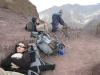 Jeff and I resting atop the Stok La, Photo by Karin