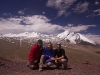 Myself, Karin, and Jeff atop Gongmaru La (5100 m, 16,700 ft)