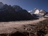 View of Nun & Parkachik Glacier while hiking towards Nun