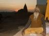 Sadhu at sunset, Orchha.