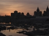 Sunset over the cenotaphs, Orchha.