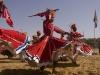 Dancers at the closing ceremonies of Pushkar Camel Fair.