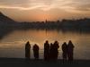 Pilgrims at the sacred lake, Pushkar.
