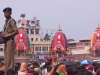 Police watching the crowd, Rath Yatra, Puri