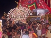 Lord Jagannath is carried from his chariot to the Gundicha Temple, Rath Yatra, Puri