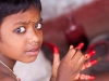 Girl puts on paint like Henna, Puri