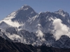 Mt. Everest (left) and Lhotse (right) from the Renjo La.