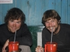 Upon returning to Jiri, Ben and I drinking a celebratory traditional alcoholic beverage called Tongba, which consists of fermented barley mixed with hot water, here served in non-traditional red plastic pitchers.