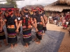 Konyak girls dancing for inauguration of the new community center in Shiyong, Nagaland