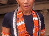 Traditional Konyak dress for inauguration of the new community center in Shiyong, Nagaland