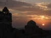 Sunset over the Rana Kumbha Palace, within the fortress at Chittor.
