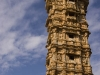 "Jaya Stambha, ""Victory Tower,"" (15th Century) within the fortress at Chittor."