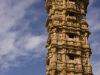 "Jaya Stambha, ""Victory Tower,"" (15th Century) within the fortress at Chittor."