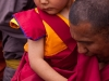 New Rimpoche being carried at his chairing ceremony, Spituk Monastery.