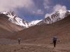 Karin & Jeff hiking toward Stok Kangri