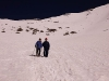 Karin & Jeff, heading down from the summit of Stok Kangri