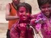Kids celebrating Holi, Madurai.