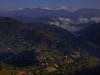 View towards the Himalayas from the ridge above Tansen