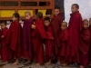 Young monks awaiting breakfast, Tawang Gompa