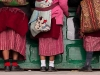 Traditional dress, market Tawang