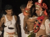 Theyyam artist preparing to become possessed by the deity, Kannur District.