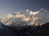 View towards the Annapurnas from High Camp.