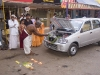 Puja being performed for a new car, Guruvayur, Thrissur District.