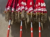 Ceremonial umbrellas at temple festival in Wadakkancheri, Thrissur District.