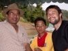 Me with the veterinarian and his son, Tlabung