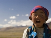 Tibetan girl poses for picture in Hor Qu.