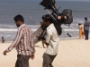 Indian film crew at Malpe Beach, near Udupi.