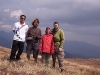 Robin, Sarah, Stilwell, and me on top of Siroi Hill, Ukhrul
